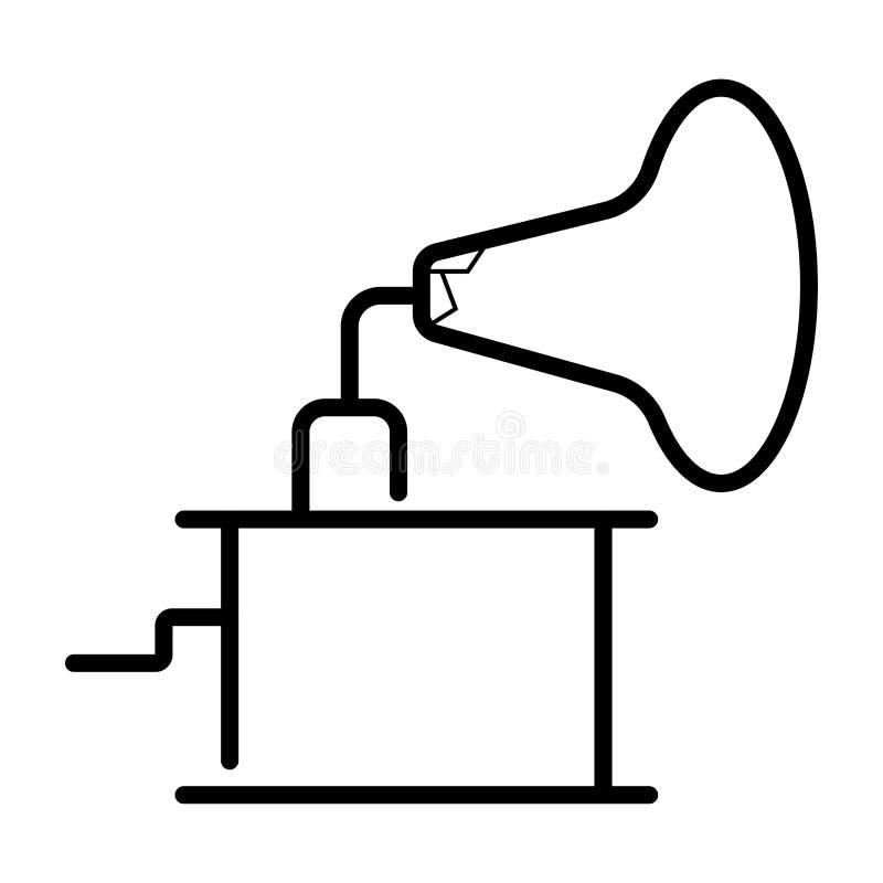Vector del icono del gramófono ilustración del vector