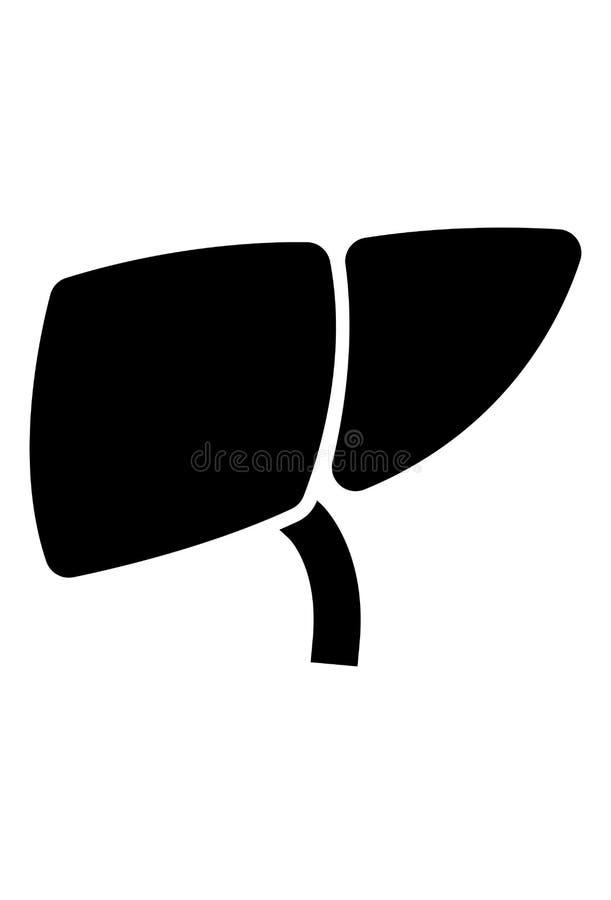 Vector del icono del hígado stock de ilustración