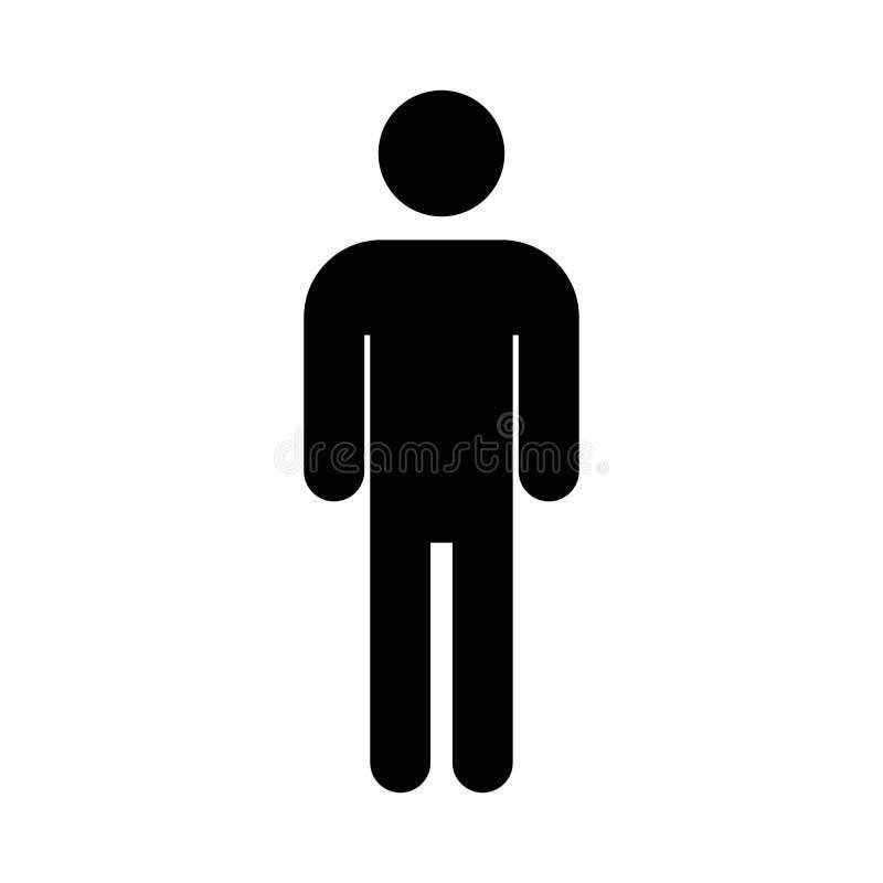 Vector del icono del hombre Símbolo plano simple Icono del hombre en el fondo blanco ilustración del vector