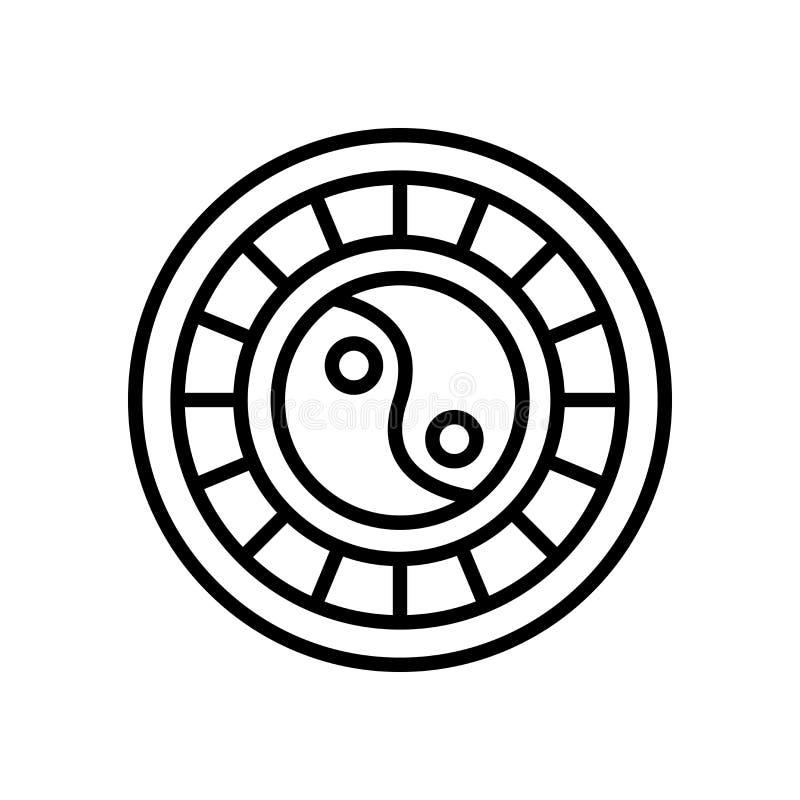 Vector del icono del horóscopo aislado en el fondo blanco, muestra del horóscopo libre illustration