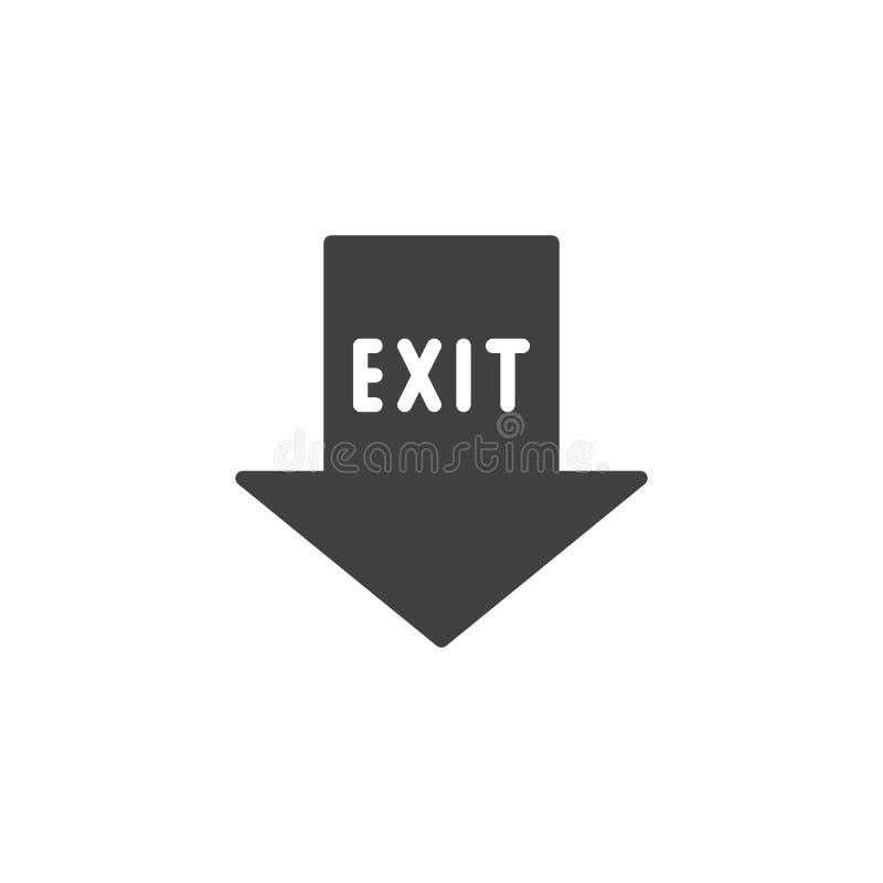 Vector del icono del indicador de la salida de emergencia stock de ilustración