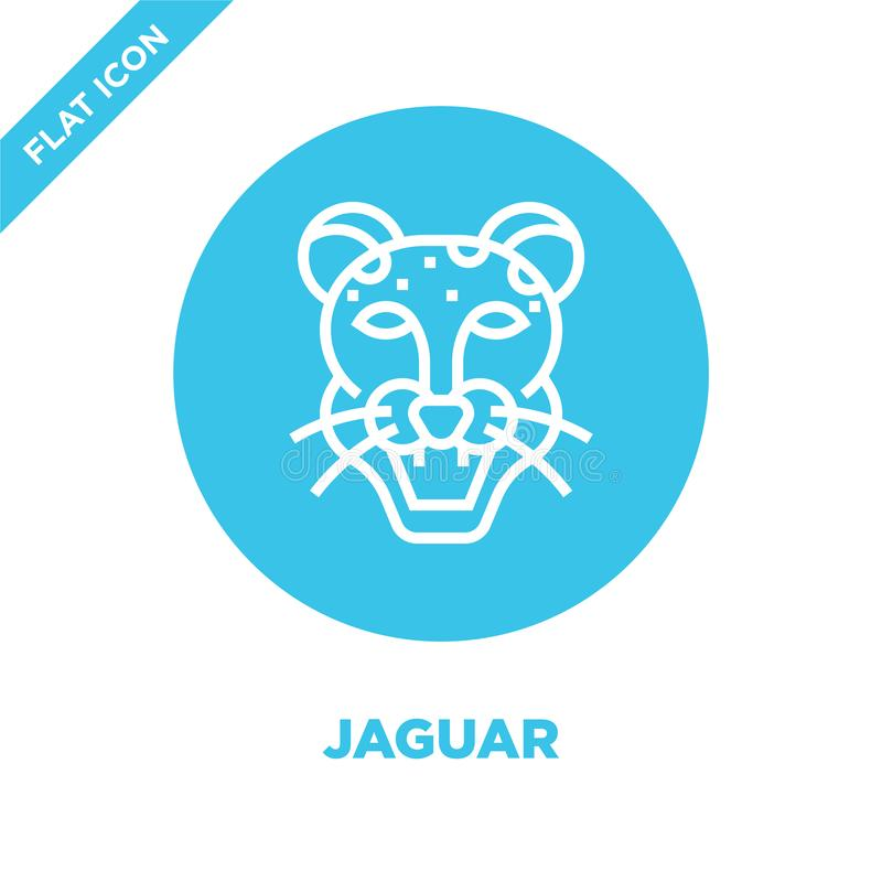 vector del icono del jaguar de la colección principal animal Línea fina ejemplo del vector del icono del esquema del jaguar Símbo stock de ilustración