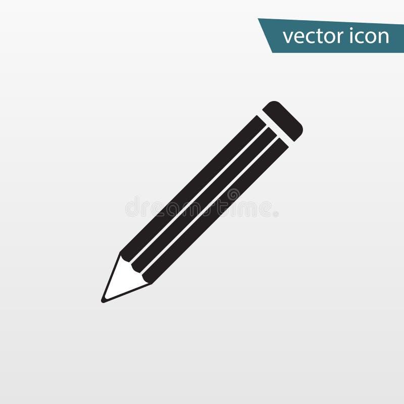 Vector del icono del lápiz Símbolo plano aislado en el fondo blanco Concepto de moda de Internet Muestra moderna f libre illustration