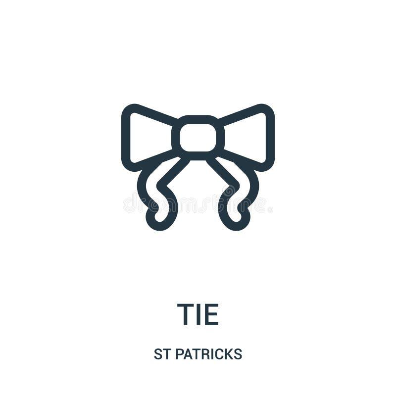 vector del icono del lazo de la colección de los patricks del st Línea fina ejemplo del vector del icono del esquema del lazo Sím ilustración del vector