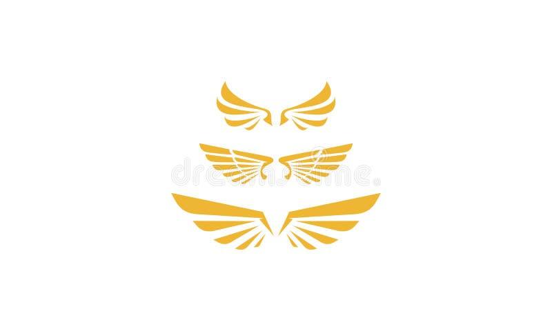 Vector del icono del logotipo del ala stock de ilustración