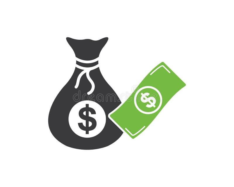 vector del icono del logotipo del bolso del dinero ilustración del vector