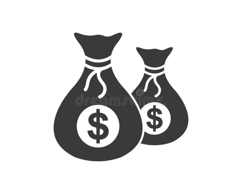 vector del icono del logotipo del bolso del dinero stock de ilustración