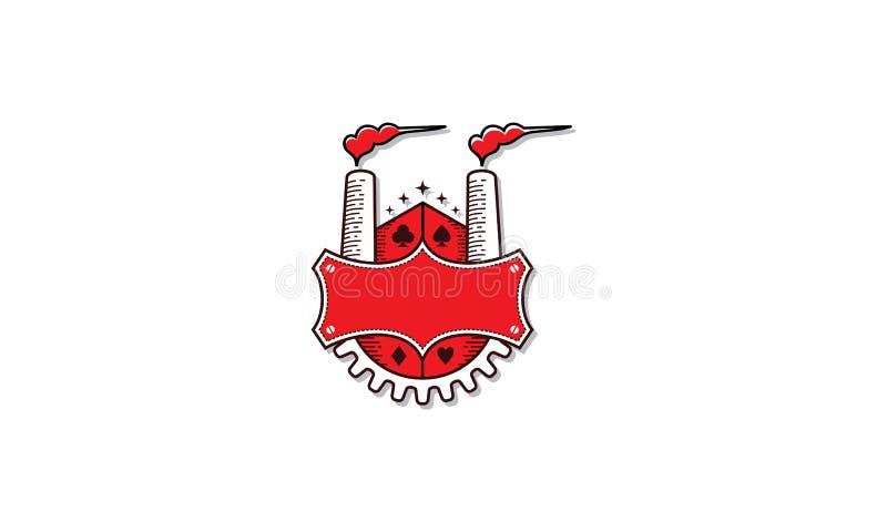 Vector del icono del logotipo de las chimeneas de la fábrica ilustración del vector