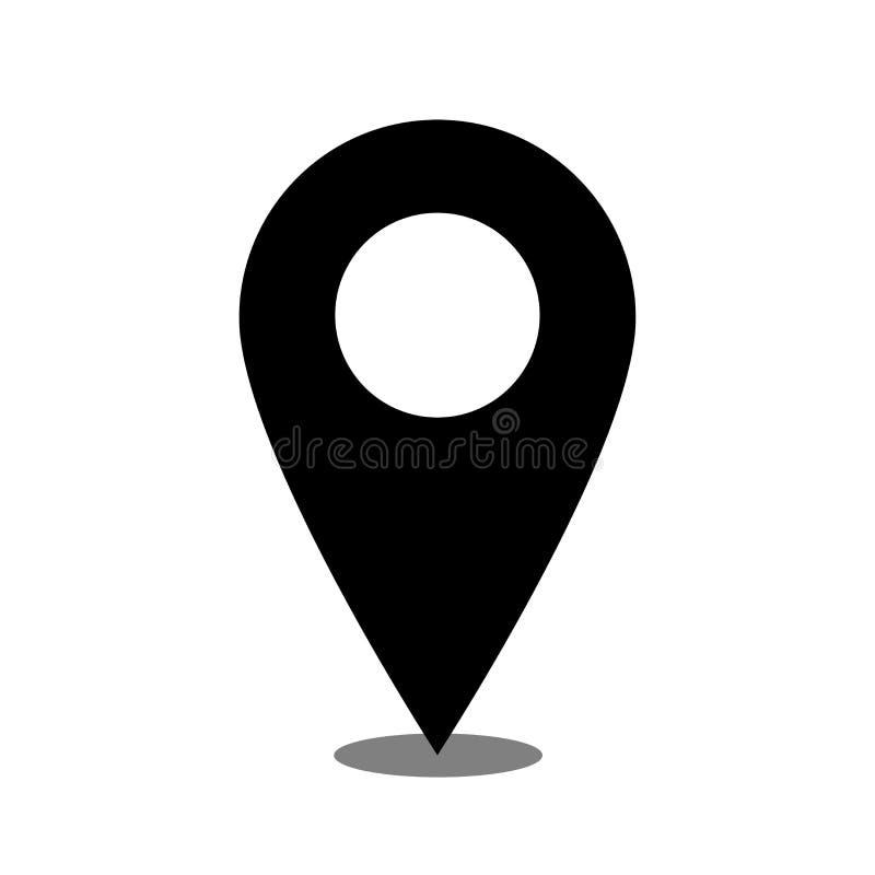 Vector del icono del lugar de la ubicaci?n aislado con el simpel del fondo liso libre illustration