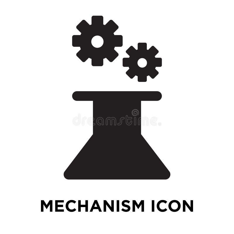 Vector del icono del mecanismo aislado en el fondo blanco, concepto del logotipo ilustración del vector