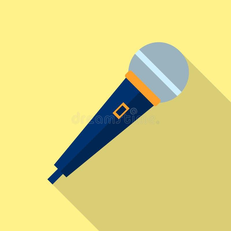 Vector del icono del micrófono, grabadora de voz, entrevista, Karaoke, muestra de la muestra del conector de audio aislada en fon stock de ilustración