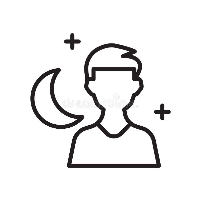 Vector del icono del modo de noche aislado en el fondo blanco, modo de noche libre illustration