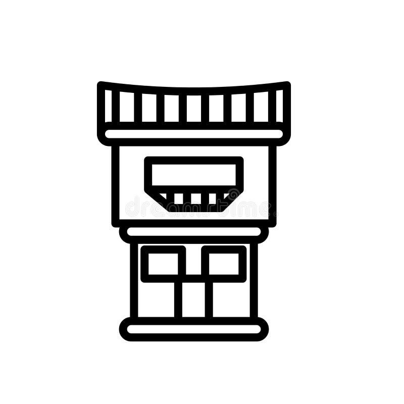 Vector del icono del motel aislado en el fondo blanco, la muestra del motel, la línea o la muestra linear, diseño del elemento en libre illustration