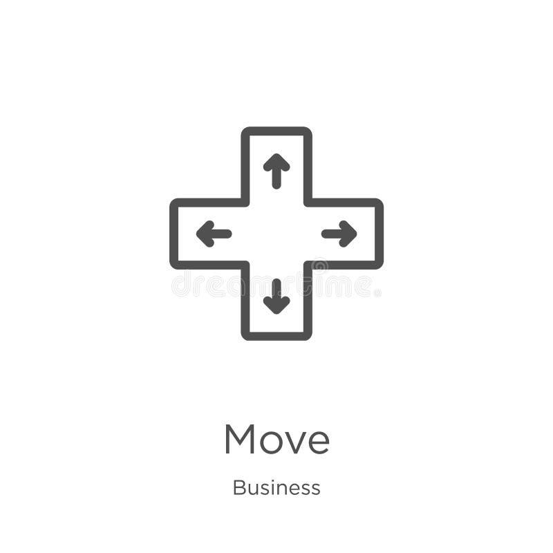 vector del icono del movimiento de la colección del negocio L?nea fina ejemplo del vector del icono del esquema del movimiento Es ilustración del vector