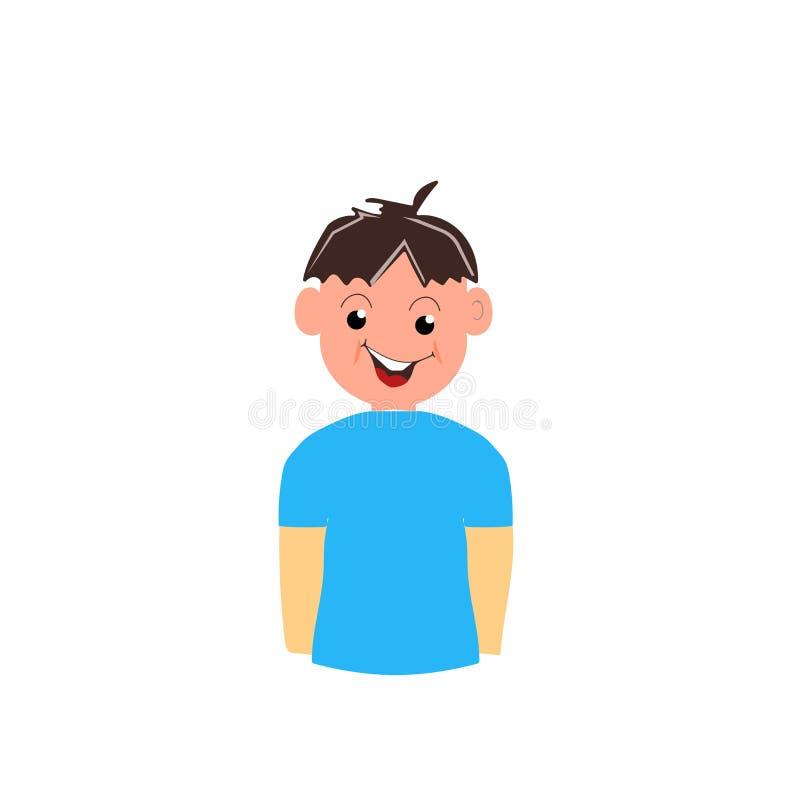 Vector del icono del muchacho aislado en el fondo blanco, muestra del muchacho, símbolos de la familia ilustración del vector