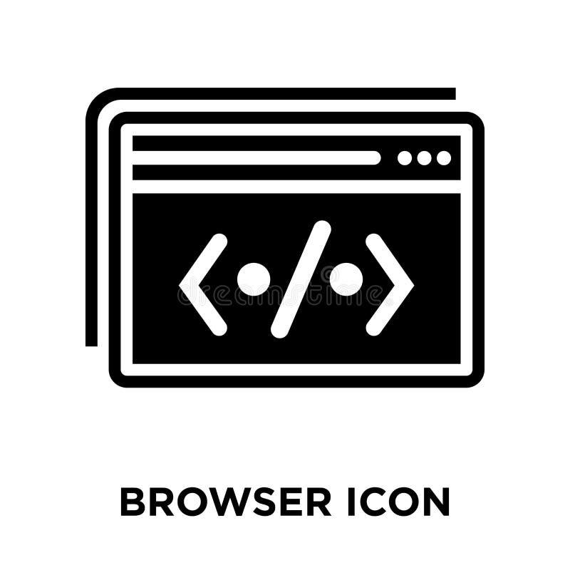 Vector del icono del navegador aislado en el fondo blanco, concepto o del logotipo libre illustration