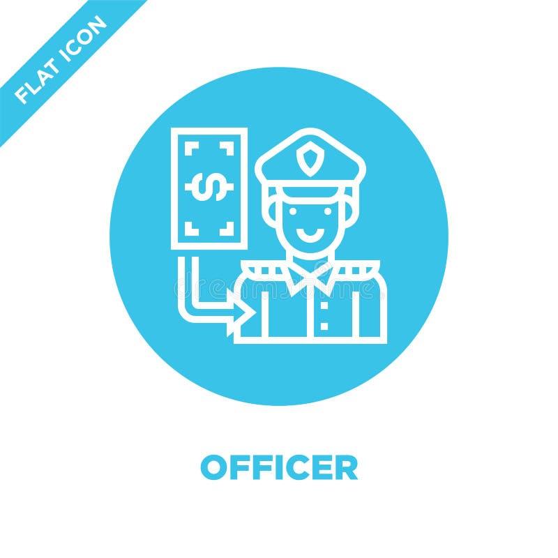 vector del icono del oficial de la colección de los elementos de la corrupción Línea fina ejemplo del vector del icono del esquem ilustración del vector