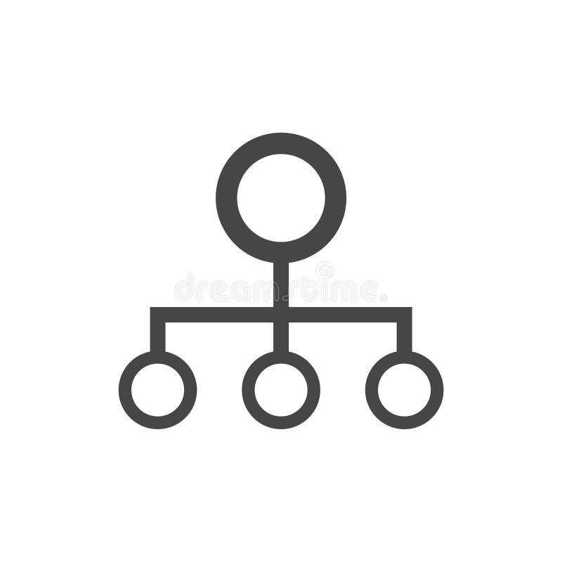 Vector del icono del organigrama ilustración del vector