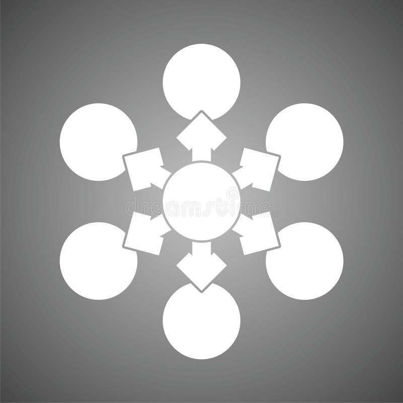 Vector del icono del organigrama libre illustration
