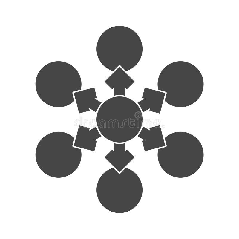 Vector del icono del organigrama stock de ilustración