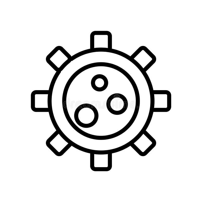 Vector del icono del organismo aislado en el fondo blanco, muestra del organismo libre illustration