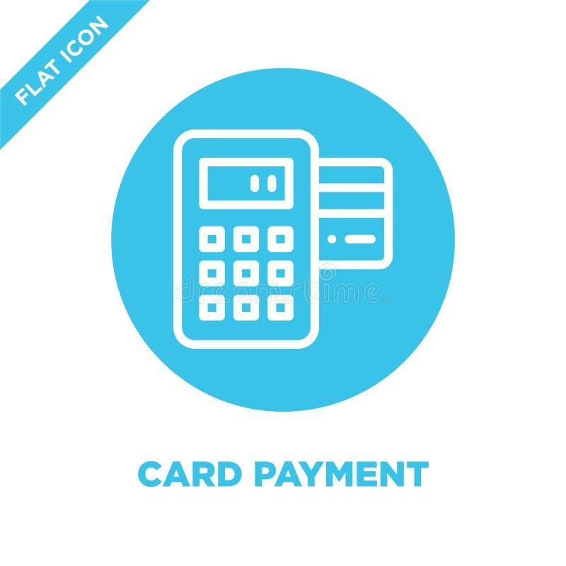 vector del icono del pago de la tarjeta Ejemplo fino del vector del icono del esquema del pago del linecard símbolo del pago de l libre illustration