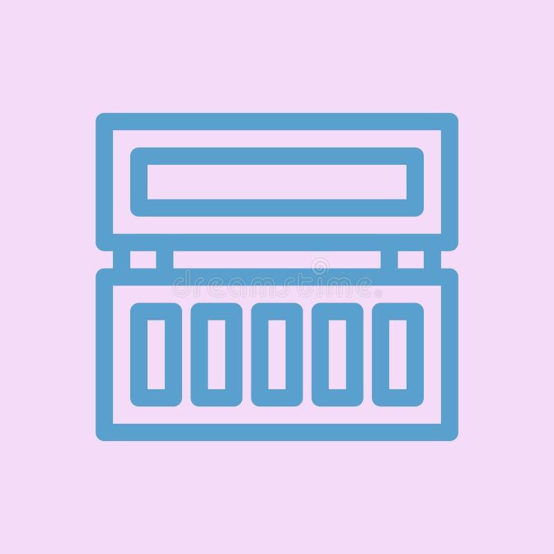 Vector del icono del pallete del sombreador de ojos stock de ilustración