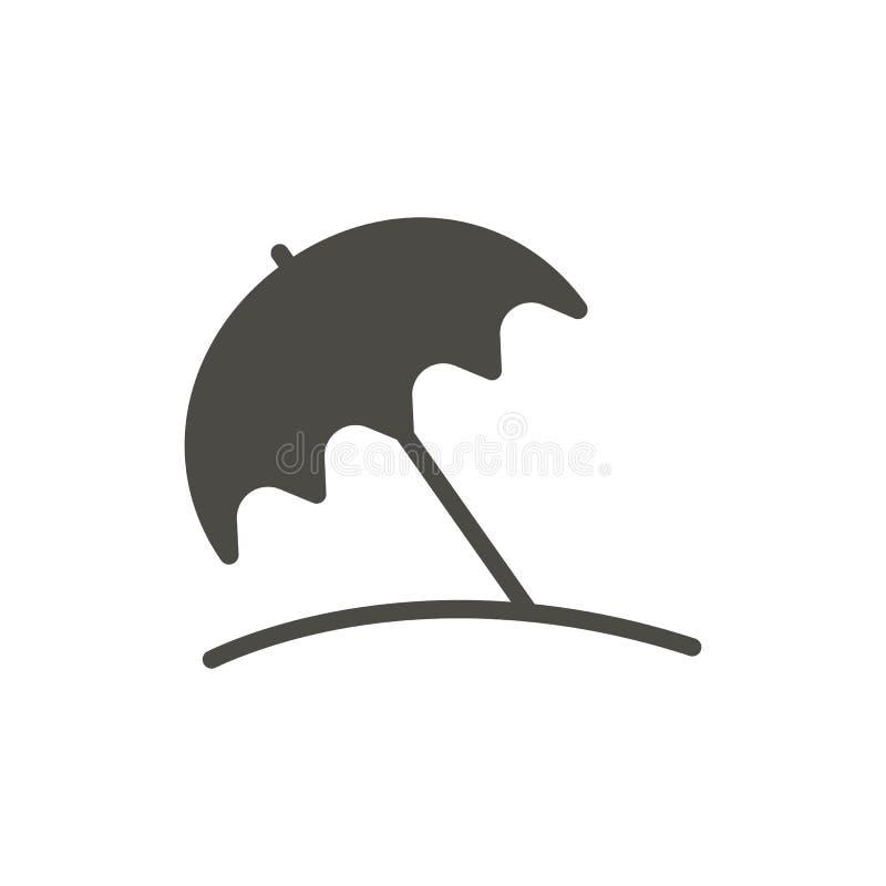 Vector del icono del parasol de playa Símbolo del pritection de Sun aislado Diseño plano de moda de la muestra del ui Grap de Par stock de ilustración
