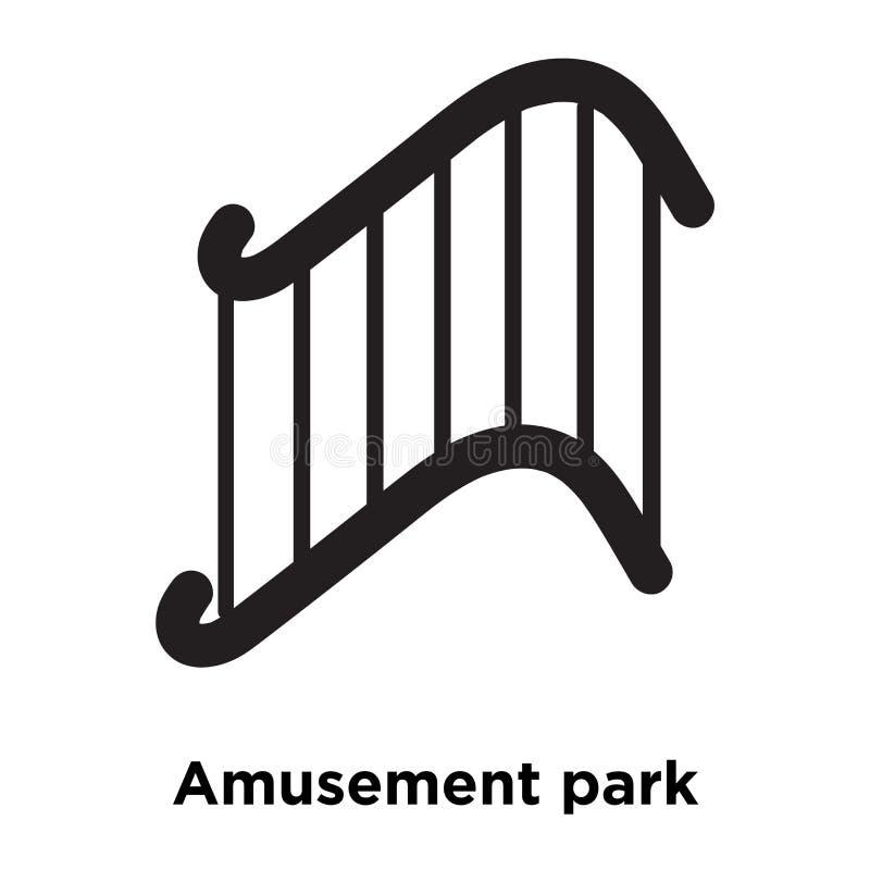 Vector del icono del parque de atracciones aislado en el fondo blanco, logotipo co libre illustration