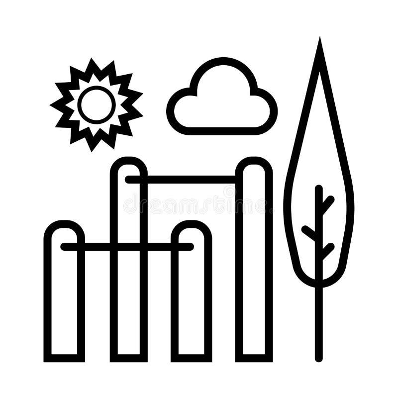 Vector del icono del parque libre illustration