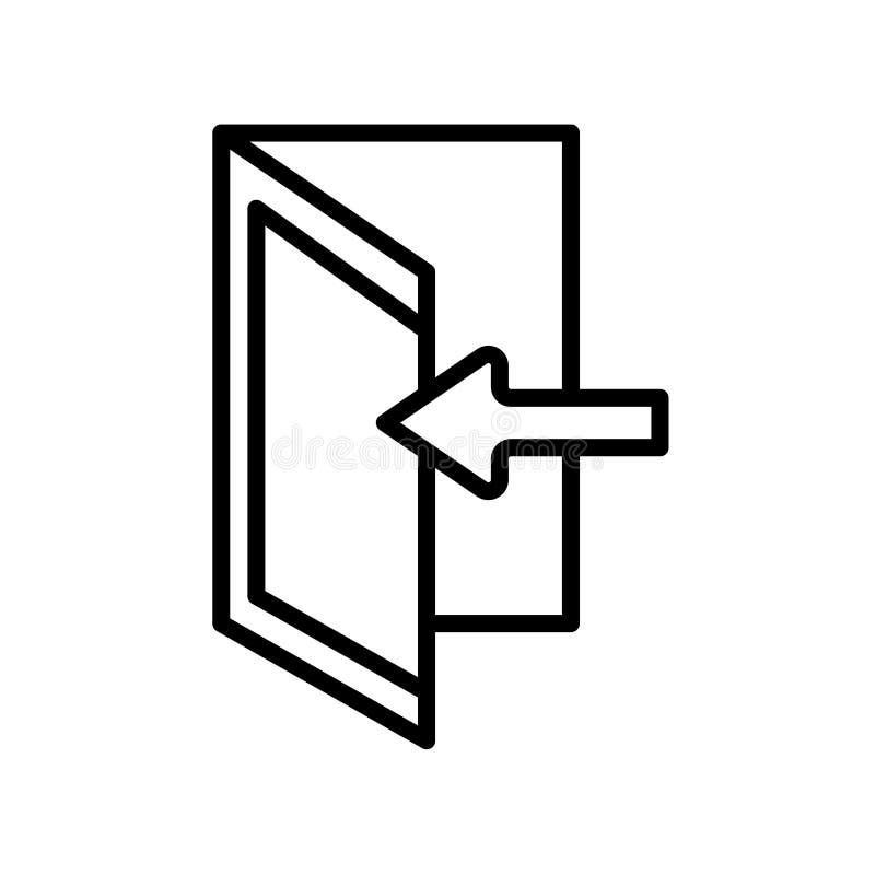 Vector del icono del parte movible aislado en el fondo blanco, muestra del parte movible, l stock de ilustración