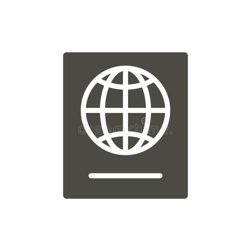 Vector del icono del pasaporte Símbolo del documento de identidad aislado Diseño plano de moda de la muestra del ui Gráfico de pa libre illustration