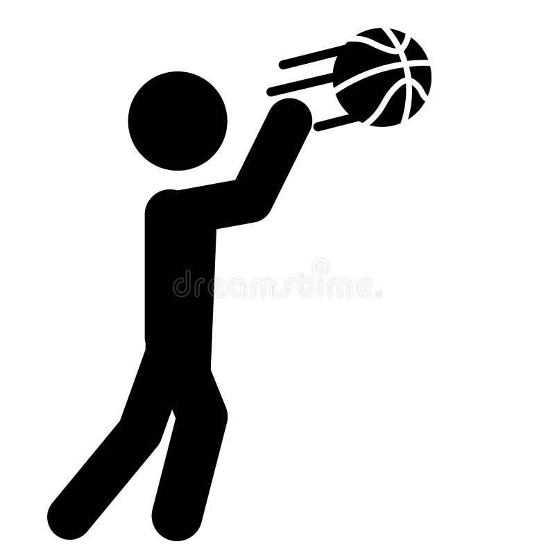 Vector del icono del paso del baloncesto stock de ilustración