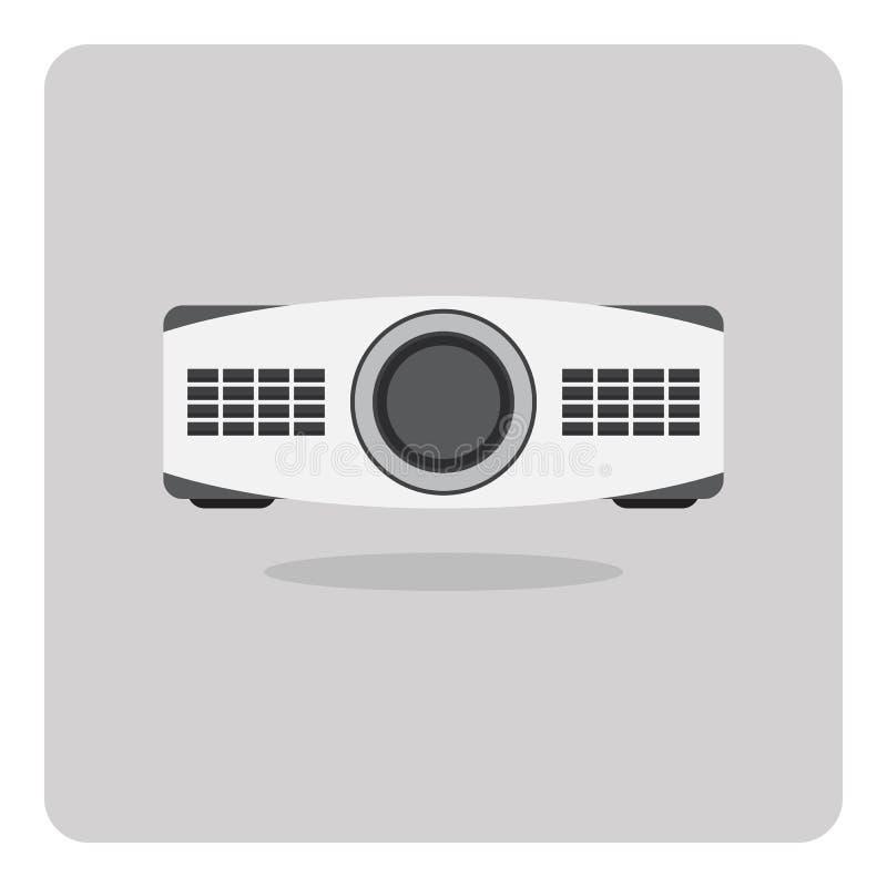 Vector del icono plano, proyector ilustración del vector