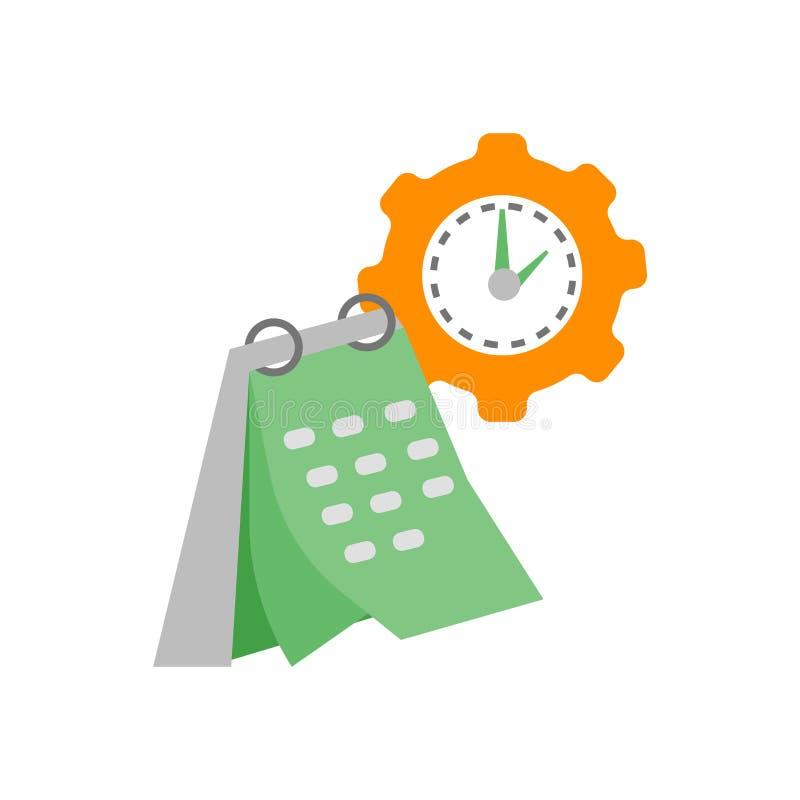 Vector del icono del plazo aislado en el fondo blanco, muestra del plazo ilustración del vector