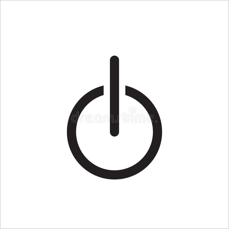 Vector del icono del poder Del icono del poder símbolo plano ENCENDIDO APAGADO ilustración del vector