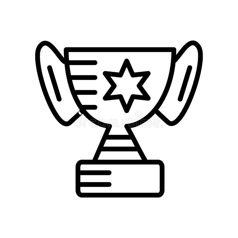 Vector del icono del premio aislado en el fondo blanco, muestra del premio, lin stock de ilustración