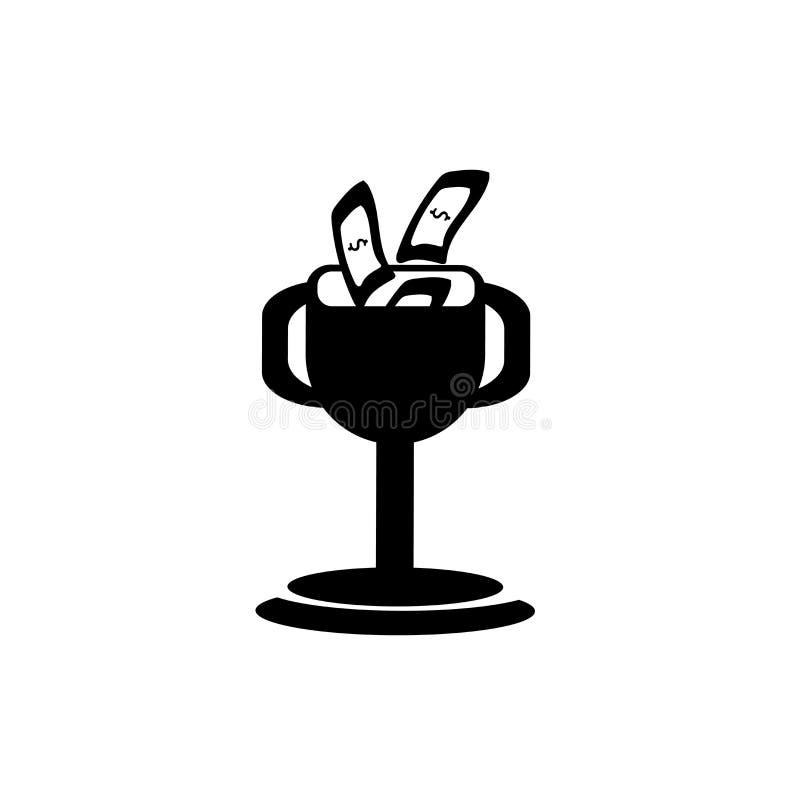 Vector del icono del premio del dinero aislado en el fondo blanco, muestra del premio del dinero, ejemplos del negocio ilustración del vector