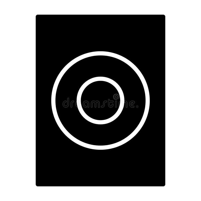 Vector del icono del Presidente, sonido, muestra audio de la música aislada en el fondo blanco ilustración del vector