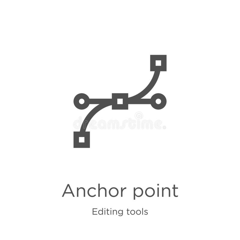 vector del icono del punto de anclaje de corregir la colección de las herramientas Línea fina ejemplo del vector del icono del es libre illustration