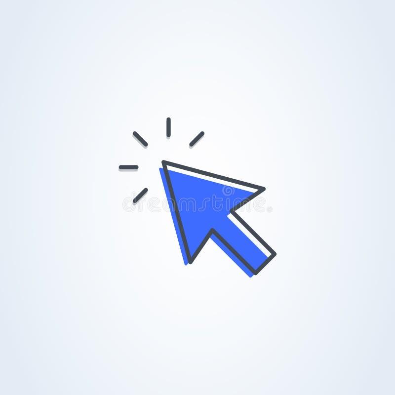 Vector del icono del ratón del cursor del tecleo símbolo de la flecha del ordenador stock de ilustración
