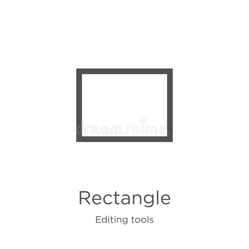 vector del icono del rectángulo de corregir la colección de las herramientas Línea fina ejemplo del vector del icono del esquema  libre illustration