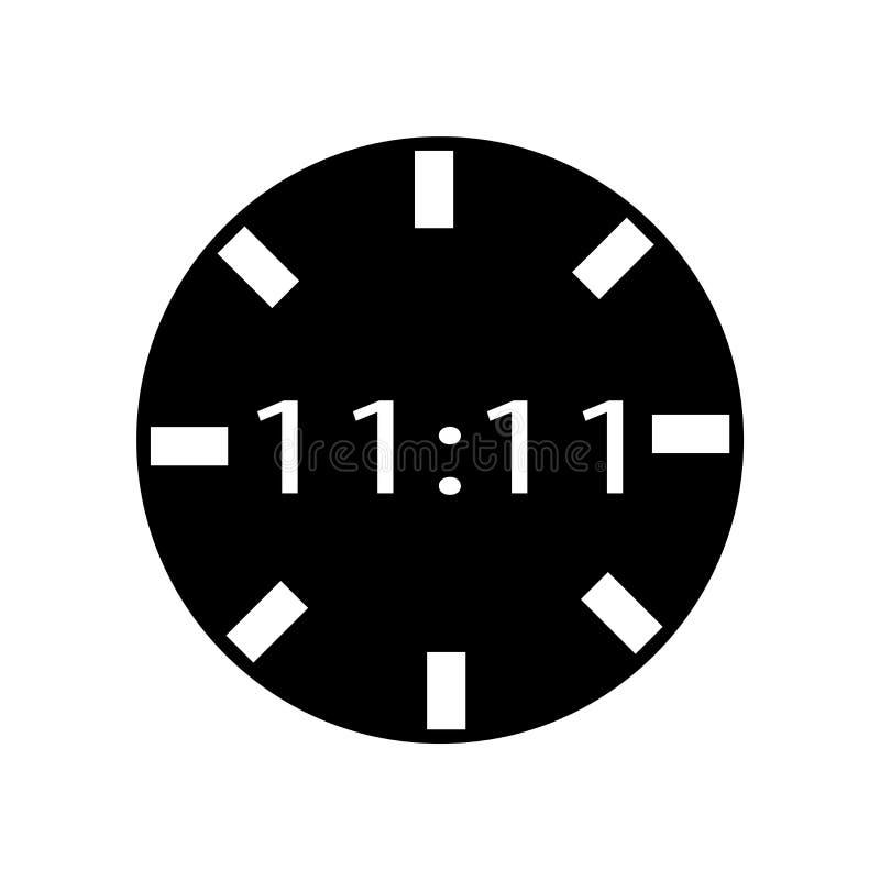 Vector del icono del reloj de Digitaces aislado en el fondo blanco, muestra del reloj de Digitaces, símbolos negros del tiempo stock de ilustración