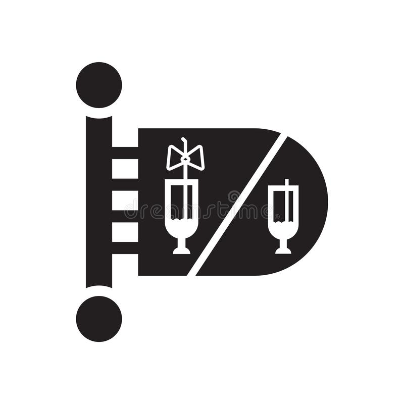 Vector del icono del retrete aislado en el fondo blanco, muestra del retrete, pictogramas de la celebración stock de ilustración