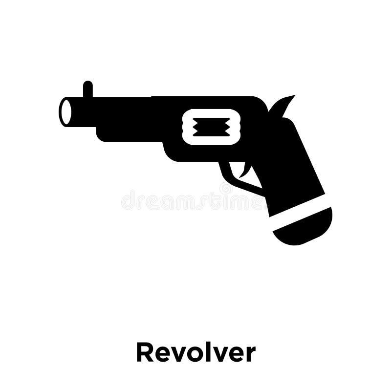 Vector del icono del revólver aislado en el fondo blanco, concepto del logotipo ilustración del vector