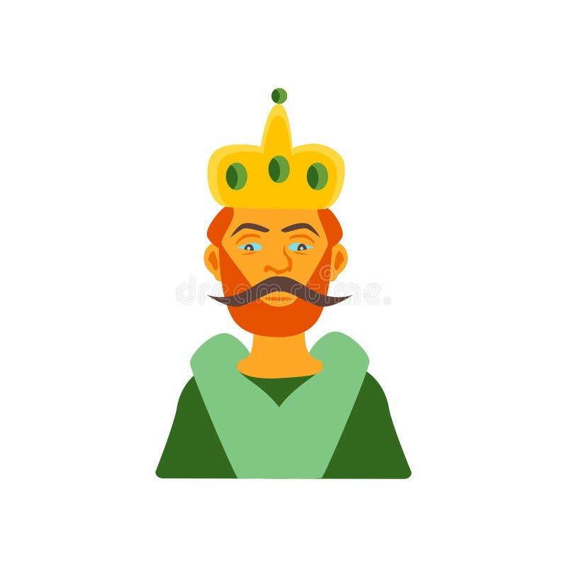 Vector del icono del rey aislado en el fondo blanco, muestra del rey, color ilustración del vector