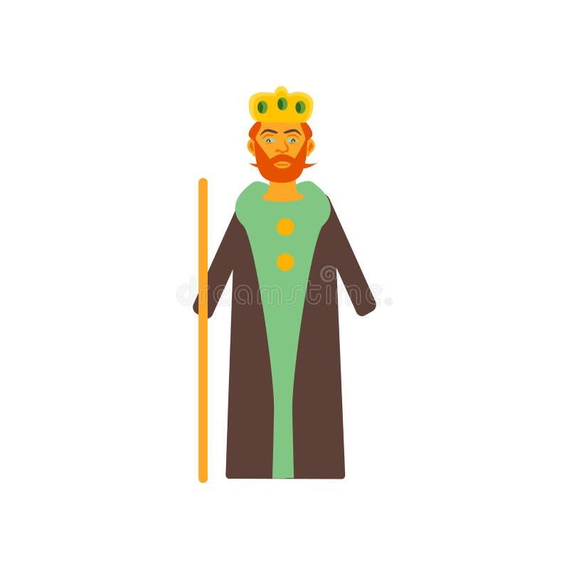 Vector del icono del rey aislado en el fondo blanco, muestra del rey, color stock de ilustración