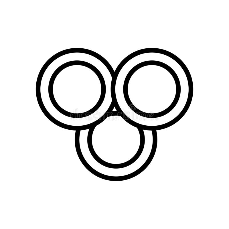 Vector del icono del Rgb aislado en el fondo blanco, la muestra del Rgb, la línea y elementos del esquema en estilo linear stock de ilustración