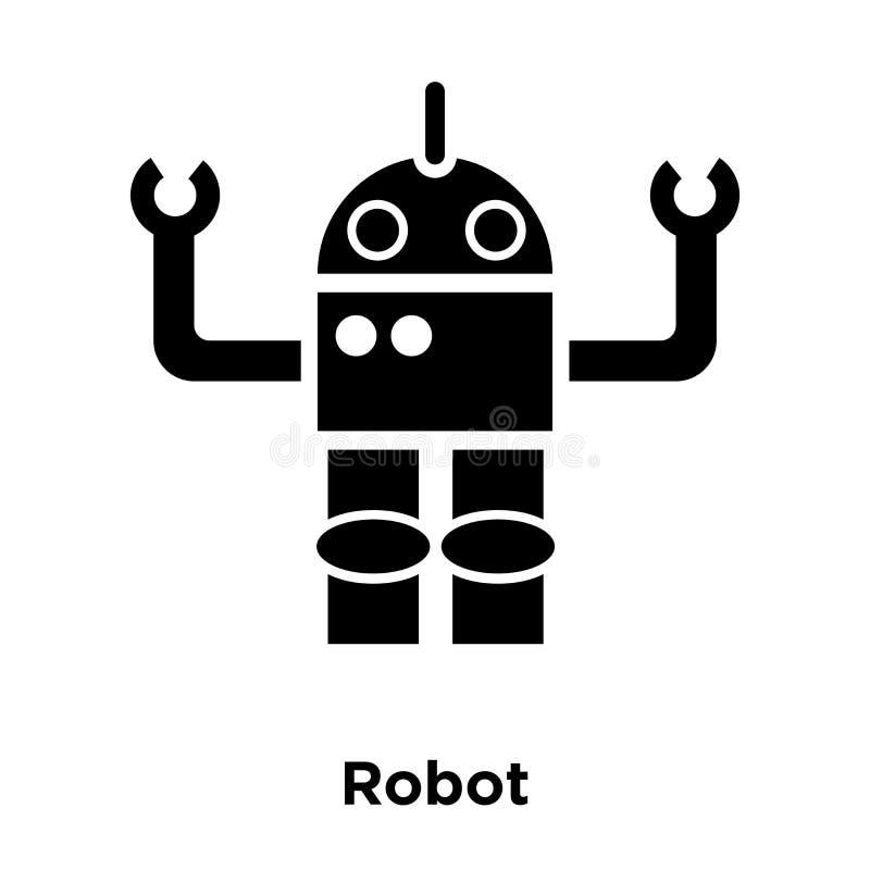 Vector del icono del robot aislado en el fondo blanco, concepto del logotipo de stock de ilustración