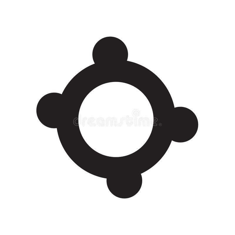 Vector del icono del salvavidas aislado en el fondo blanco, muestra del salvavidas, símbolos de las vacaciones stock de ilustración
